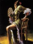 fabian perez flamenco dancer ii with fan painting-78876