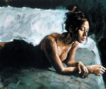 renee on bed i by fabian perez painting