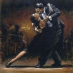 study for tango v by fabian perez painting