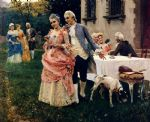 an afternoon tea by federico andreotti painting