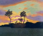 felix vallotton landscape at sunset painting 34271