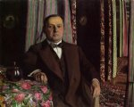 portrait paintings - portrait of mr. hasen by felix vallotton
