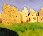 felix vallotton ruins at souain sunset painting 34218