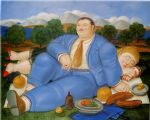 the nap 1982 by fernando botero painting