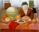 the supper 1987 by fernando botero painting