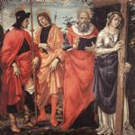 four saints altarpiece by filippino lippi painting