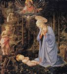 the adoration with the infant st by filippino lippi painting