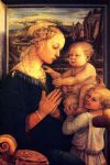 virgin with chilrden by filippino lippi painting