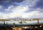 gloucester from rocky neck by fitz hugh lane painting