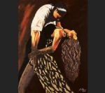 flamenco dancer averil elaziz just tango oil painting