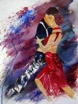 flamenco dancer dancing tango oil painting