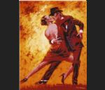 flamenco dancer terence gilbert golden tango painting-83224