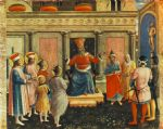 saint cosmas and saint damian before lisius by fra angelico painting