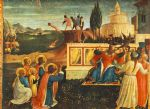 saint cosmas and saint damian salvaged by fra angelico painting