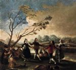 dance oil paintings - dance of the majos at the banks of manzanares by francisco de goya