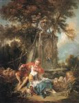 an autumn pastoral by francois boucher painting