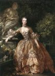 portrait of marquise de pompadour by francois boucher painting