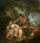 the interrupted sleep by francois boucher painting