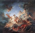 vulcan presenting venus with arms for aeneas by francois boucher painting
