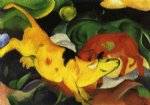 cows yellow by franz marc painting