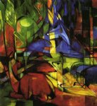 franz marc deer in the forest ii painting-34028