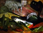 franz marc paintings - der traum by franz marc