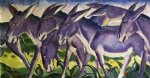 donkey frieze by franz marc painting