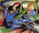dreaming horses by franz marc painting