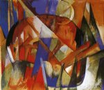 franz marc fabulous beast ii painting