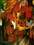 foxes by franz marc painting