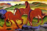 grazing horses iv by franz marc painting