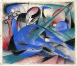 horse asleep by franz marc painting