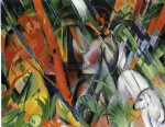 in the rain by franz marc painting
