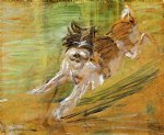franz marc jumping dog schlick paintings