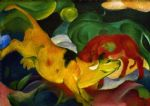 franz marc paintings - kühe by franz marc
