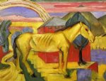 long yellow horse by franz marc painting