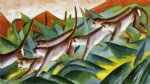 monkey frieze by franz marc painting