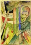 mountain goats by franz marc painting