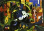 picture with cattle by franz marc painting