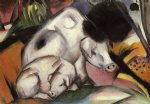 pigs by franz marc painting