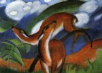 red deer ii by franz marc painting
