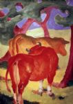 franz marc rote kuhe painting