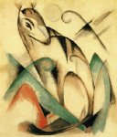 seated mythical animal by franz marc painting