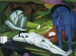shepherds by franz marc painting