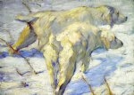 siberian sheepdogs by franz marc painting