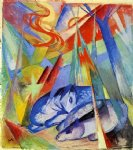 sleeping animals by franz marc painting