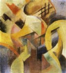 small composition i by franz marc painting