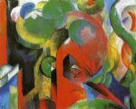 small composition iii by franz marc painting