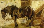 franz marc small horse study painting