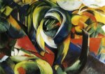 the mandrill by franz marc painting